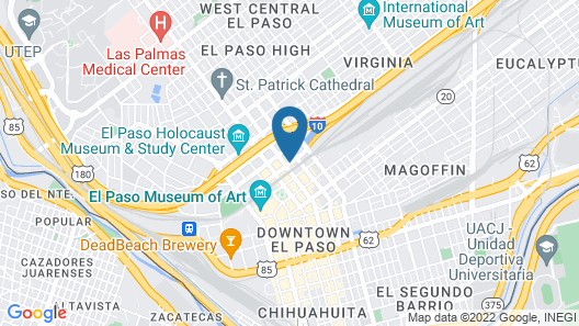 The Gardner Hotel El Paso Map
