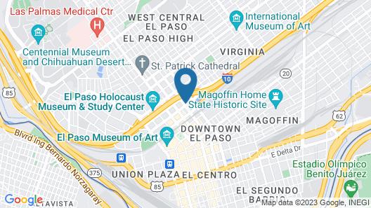 Holiday Inn Express El Paso - Central Map