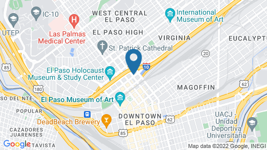 HI Express El Paso Downtown, an IHG Hotel Map