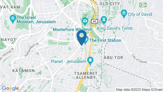 Orient Hotel Jerusalem Map