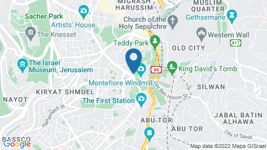 King Solomon Hotel Jerusalem Map