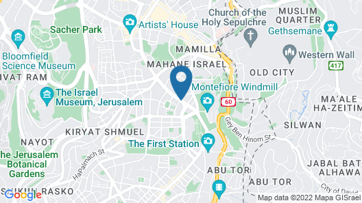 Dan Panorama Jerusalem Map