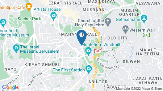 King David Jerusalem Map