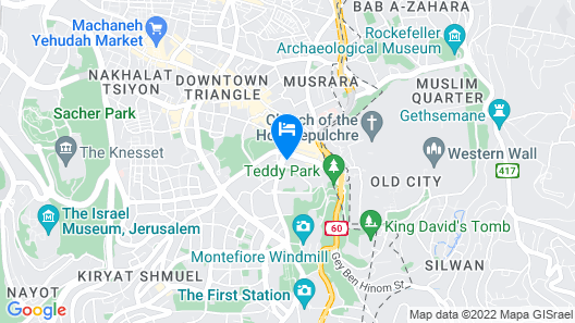 The David Citadel Hotel Map