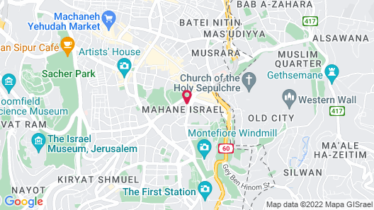 Waldorf Astoria Jerusalem Map
