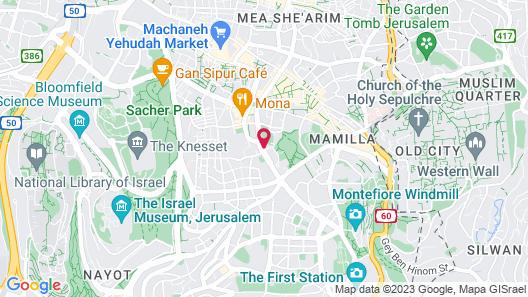Leonardo Plaza Hotel Jerusalem Map