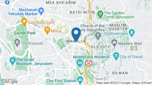 Mamilla Hotel Map