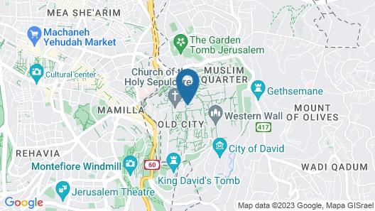 Hebron Khan Hostel Map