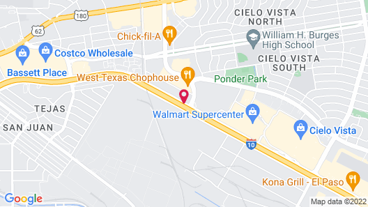 Best Western Plus El Paso Airport Hotel & Conference Center Map