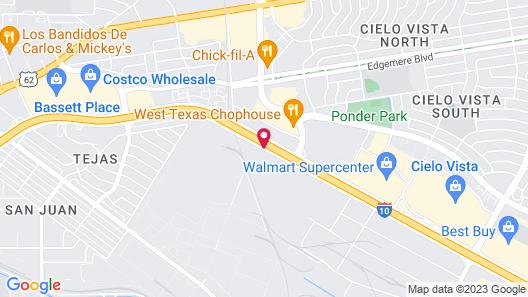 Hilton Garden Inn El Paso Airport Map