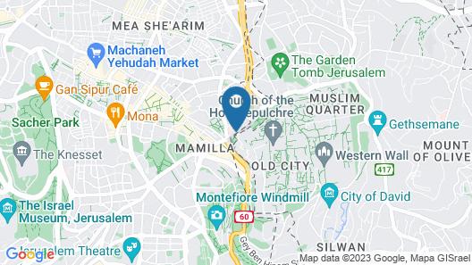 Notre Dame of Jerusalem Center Map