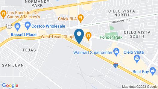 Hampton Inn & Suites El Paso-Airport Map