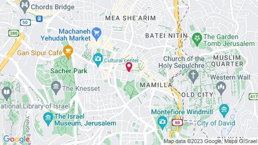 Jerusalem Tower Hotel Map