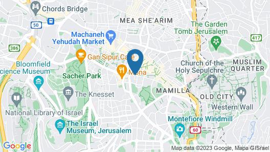 Hillel 11 Hotel Map