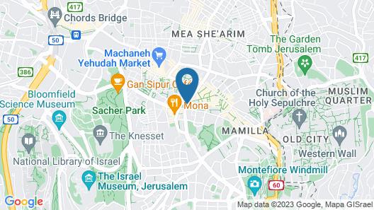 Lev Yerushalayim Map