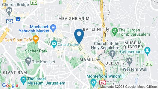 Kaplan Hotel Jerusalem Map