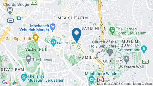 The Jerusalem Hostel Map