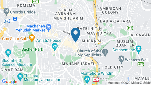 ibis Jerusalem city Center -  An AccorHotels Brand Map