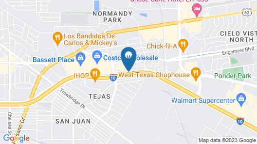 Holiday Inn El Paso Airport Map
