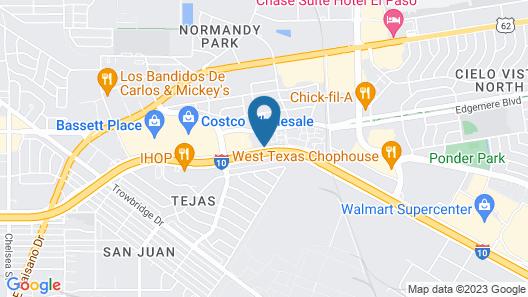 El Paso Residence Inn by Marriott Map