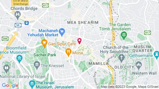 Paamonim Jerusalem Hotel Map