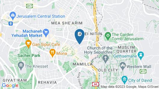 Leonardo Boutique Jerusalem Map