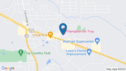 Hampton Inn by Hilton Troy Map