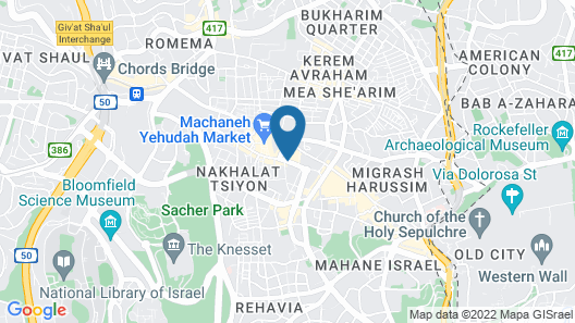Windows of Jerusalem Map