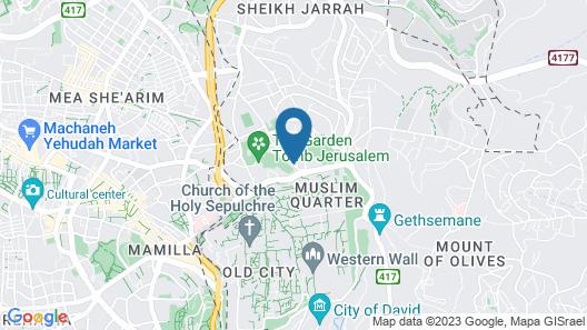 Jerusalem Metropole Hotel Map