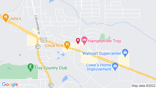 Courtyard by Marriott Troy Map