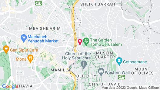 Jerusalem Hotel Map
