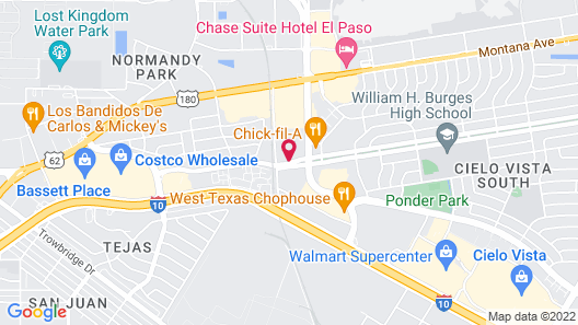TownePlace Suites El Paso Airport Map