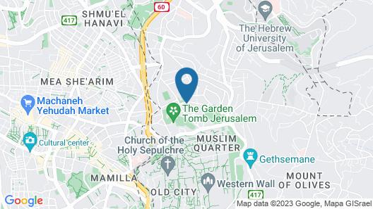 National Hotel Jerusalem Map