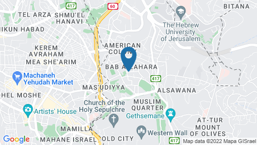 Ritz Hotel Jerusalem Map