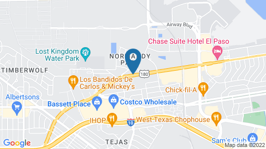 Motel 6 El Paso, TX - Airport - Fort Bliss Map