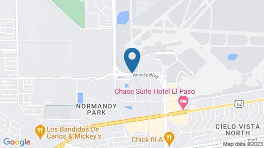 Comfort Suites El Paso Airport Map