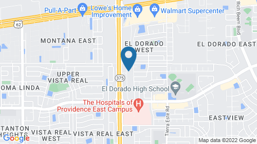 Holiday Inn Express And Suites El Paso East Map