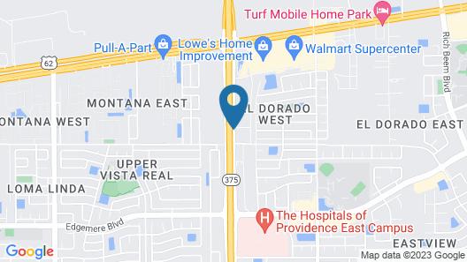 WoodSpring Suites El Paso Airport Map