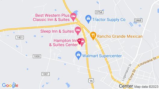 Hampton Inn & Suites Center, TX Map