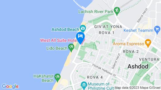 West All Suite Boutique Ashdod Map