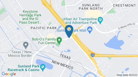 Holiday Inn El Paso West - Sunland Park Map