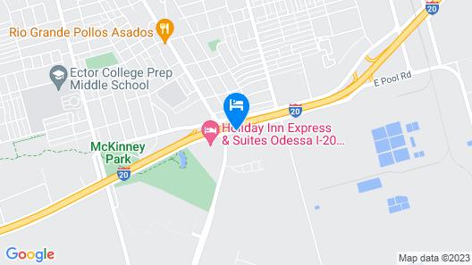 Motel 6 Odessa, TX Map