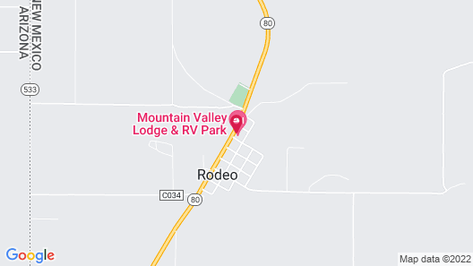 Mountain Valley Lodge and RV Park Map