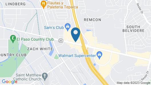 Motel 6 El Paso, TX - West Map