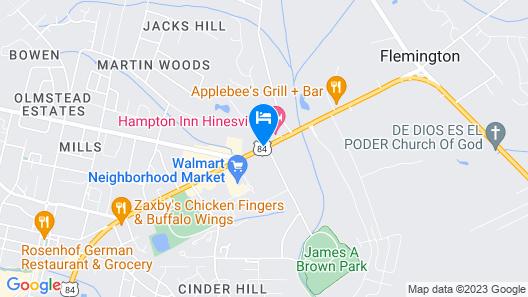 Quality Inn Hinesville - Fort Stewart Area Map