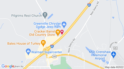 Hampton Inn Greenville Map
