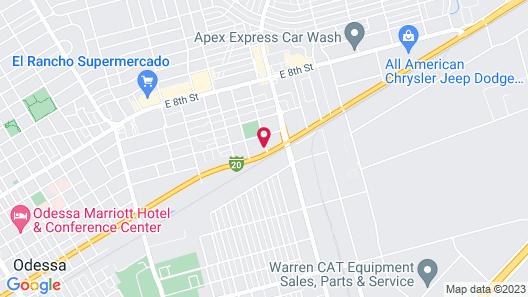 Motel 6 Odessa, TX - 2nd Street Map
