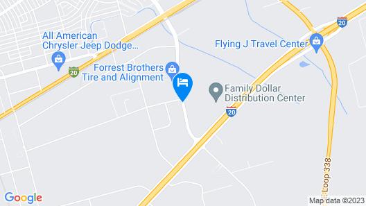 Studio 6 Odessa, TX Map
