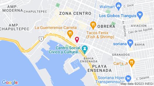 Hotel Cortez Map