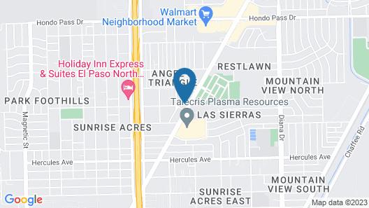 Beverly Crest Motor Inn Map